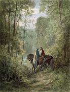 Lancelot & Guinevere Print by Granger