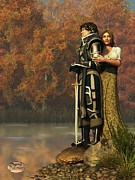 Guinevere Metal Prints - Lancelot and Guinevere Metal Print by Daniel Eskridge