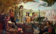 Lancelot And Guinevere Print by Herbert James Draper
