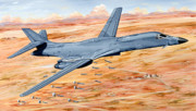Bomber Drawings - Lancer by Charles Taylor