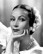 Dolores Photo Framed Prints - Lancer Spy, Dolores Del Rio, 1937 Framed Print by Everett