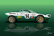 Automotive.digital Framed Prints - Lancia Stratos HF Framed Print by Alain Jamar