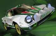 Rally Prints - Lancia Stratos HF Rally Car Print by Uli Gonzalez