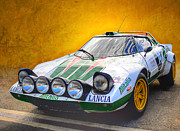 Racing Car Photographs Framed Prints - Lancia Stratos Framed Print by Stuart Row
