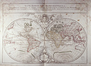 Longitude Posters - Land And Water Map Of The World Poster by Fototeca Storica Nazionale