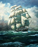 Galleons Tapestries Textiles - Land Ho Cutty Sark by Colin Parker
