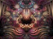 Multi Colored Digital Art - Land of Confusion by Amorina Ashton