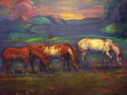 Animals Pastels Originals - Land Of Milk And Honey by Tommy  Winn