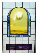 Glass Glass Art - Land Of No Rain by Richard Spaulding