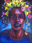 African-american Pastels - Land of Plenty by Gabrielle Wilson-Sealy