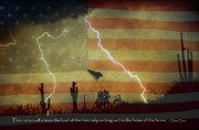 Storm Prints Photo Posters - Land of The Free - Home Of the Brave  Poster by James Bo Insogna