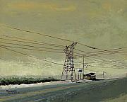 Route 66 Paintings - Land by Steve Beaumont