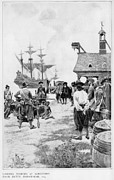 African Americans Prints - Landing Of 20 African Captives Print by Everett