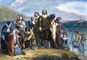Colonist Posters - Landing Of Pilgrims, 1620 Poster by Granger
