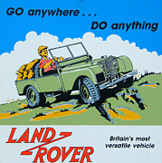 Rover Framed Prints - LandRover Advert - Go anywhere.....Do anything Framed Print by Nomad Art And  Design