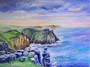Nature Painting Posters - Lands End Vista Poster by Merv Scoble