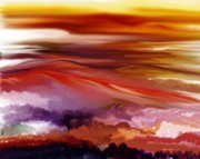 Expressionist Digital Art - Landscape 022511 by David Lane