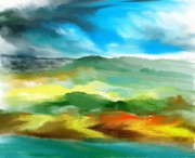 Digital Paintings Landscapes - Landscape 040211 by David Lane