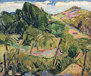 Fauvist Paintings - Landscape by Alfred Henry Maurer