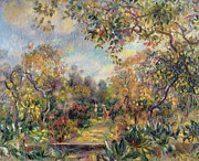 Path Painting Prints - Landscape at Beaulieu Print by Pierre Auguste Renoir