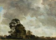 Hampstead Posters - Landscape at Hampstead - Tree and Storm Clouds Poster by John Constable