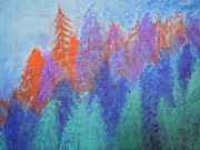 Abstract.trees Sculpture Prints - Landscape- Color Palette Print by Soho