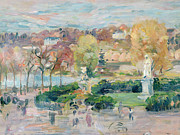 Fall Grass Prints - Landscape in Tours Print by Berthe Morisot