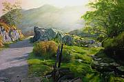 North Wales Paintings - Landscape in Wales by Harry Robertson