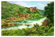 Landscapes Jewelry Originals - Landscape Indian Caves in Andhra Pradesh by Kalpana Talpade Ranadive