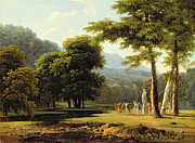 Pagan Paintings - Landscape by Jean Victor Bertin