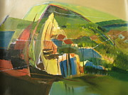 Semi Abstract Landscape Arial View Paintings - Landscape  by Konda Srinivas Rao