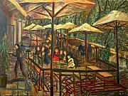 Cafe Terrace Originals - Landscape by Maia Oprea
