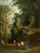 Resting Metal Prints - Landscape near Clifton Metal Print by Francis Danby