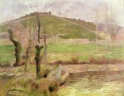 Outskirts Prints - Landscape near Pont Aven Print by Paul Gauguin