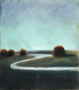 Stream Pastels Originals - Landscape No 3 by L Cooper