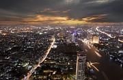 Landscape Of Bangkok Print by Anek Suwannaphoom