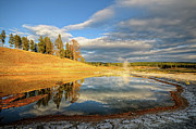 Park Scene Posters - Landscape Of Yellowstone Poster by Philippe Sainte-Laudy Photography