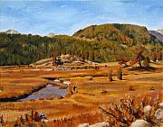 Earthtone Paintings - Landscape Painting - Estes Park Colorado - 8 x 10 Oil by Daniel Fishback