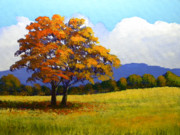 Autumn Trees Painting Posters - Landscape Study 1 Poster by Frank Wilson