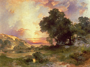 River View Paintings - Landscape by Thomas Moran