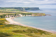 Antrim Framed Prints - Landscape view of White Park Bay Framed Print by Semmick Photo