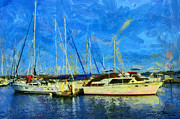 Vincent DiNovici - Landscape with boats on...