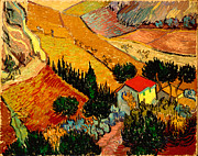 Bakery Art - Landscape With House And Ploughman 1889 by Pg Reproductions