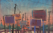 Cities Pastels - Landscape with Rectangles by Donald Maier
