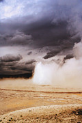 Landscapes Of Yellowstone - Great Fountain Geyser Print by Ellen Lacey