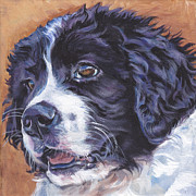 Landseer Paintings - Landseer Newfoundland Pup by Lee Ann Shepard