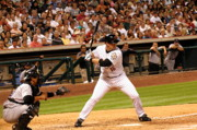 Astros Photos - Lane at Bat by Teresa Blanton