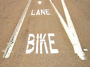 Lane Bike Print by Jenny Senra Pampin