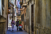 Lane Metal Prints - Lane in Palma de Majorca Spain Metal Print by David Smith