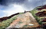 Moor Paintings - Lane to Quarry Pole Moor by Paul Dene Marlor